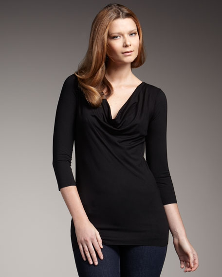 Draped-Front Top