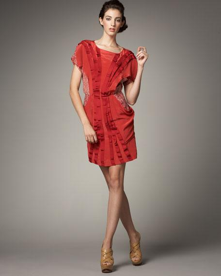 Charlotte Bi-Fabric Dress