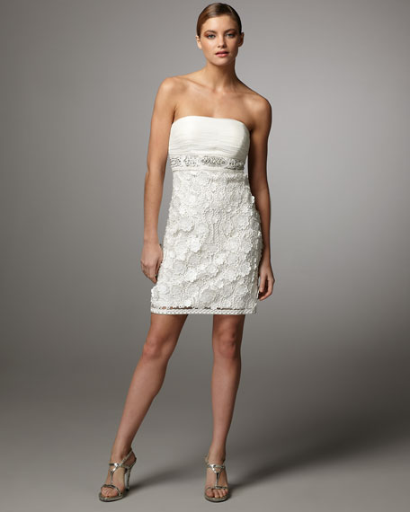Strapless Lace Combo Dress