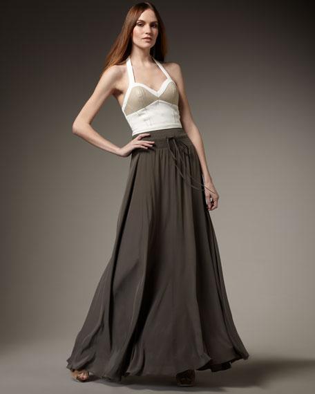 Washed Maxi Skirt