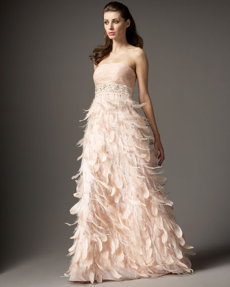 Feather-Skirt Gown