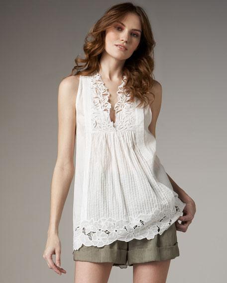 Cuffed Linen-Blend Shorts