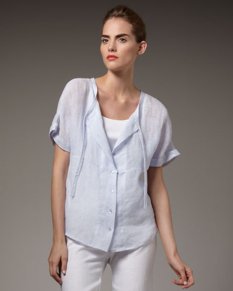 Boxy Linen Shirt, Women's