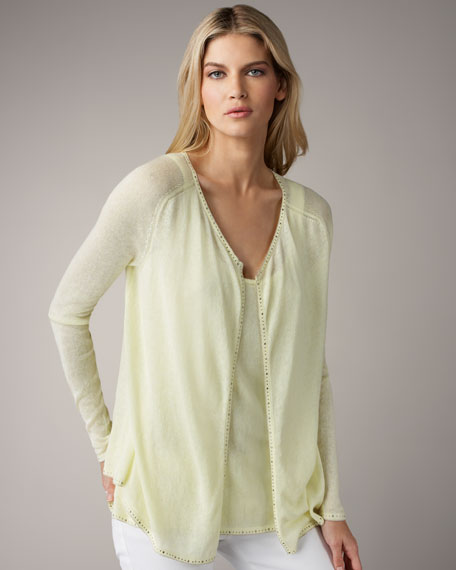 Embellished Cotton-Cashmere Cardigan