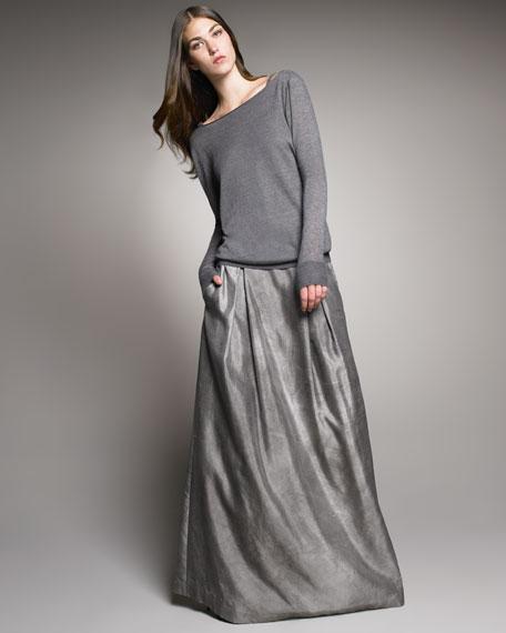 Silk Floor-Length Skirt