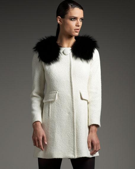 Madison Fur-Collar Coat