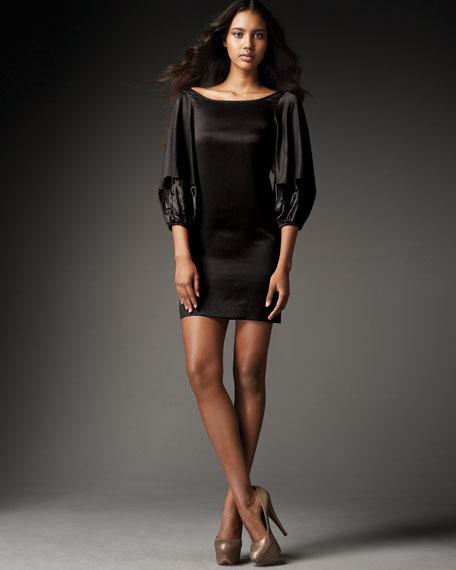 New Luna Dress, Black