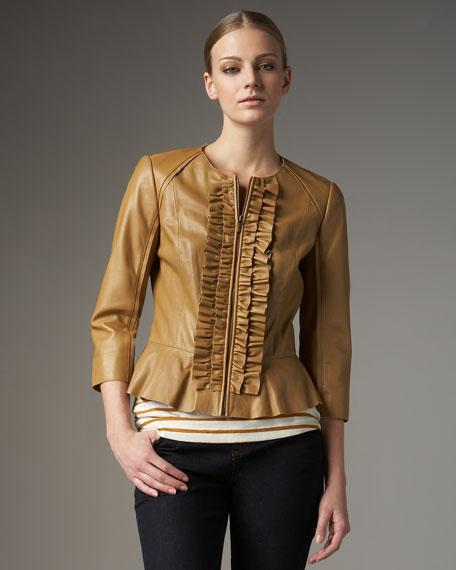 Olive Ruffle Jacket