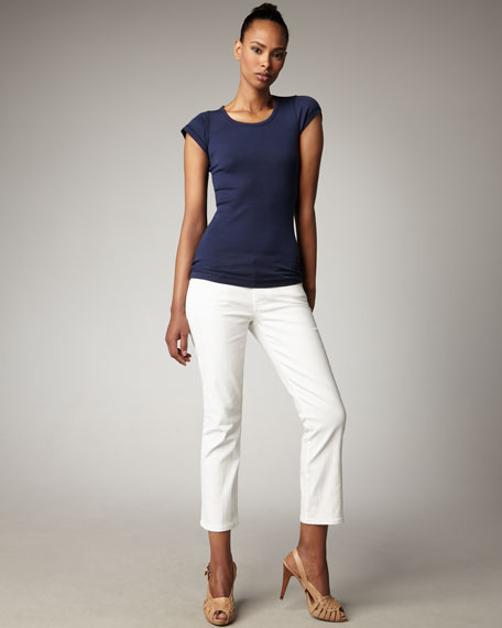 Classic Straight-Leg Cropped Jeans