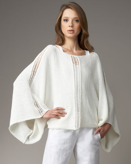 Graham & Spencer Knit Dolman-Sleeve Sweater