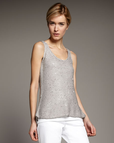 Sequined Chainmail Tank