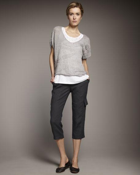 Metallic V-Neck Sweater, Petite