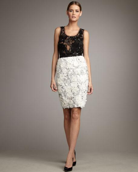 Rosette Pencil Skirt