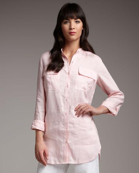 Linen Safari Shirt, Petite