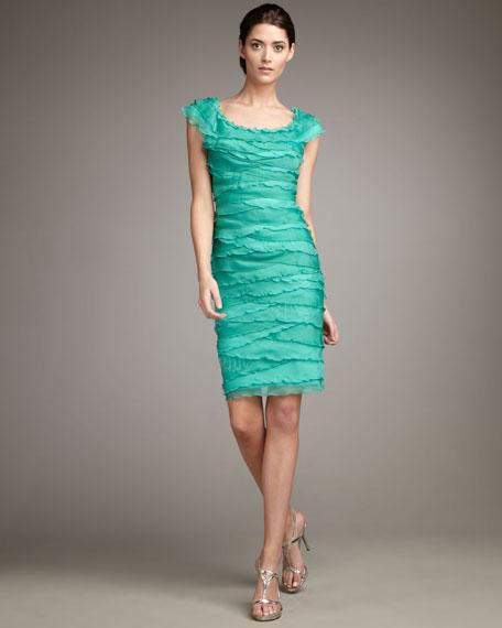 Tiered Cap-Sleeve Dress
