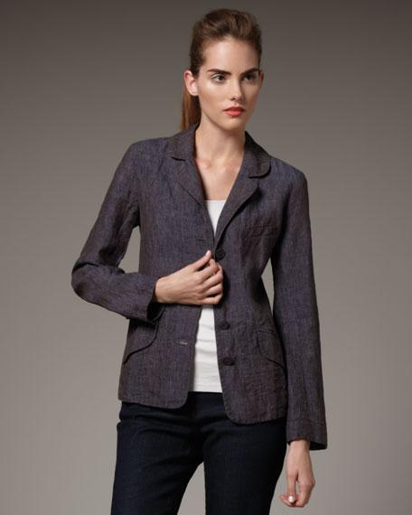 Rumpled Linen Jacket