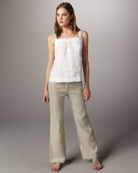 Classic Heavy-Linen Trousers