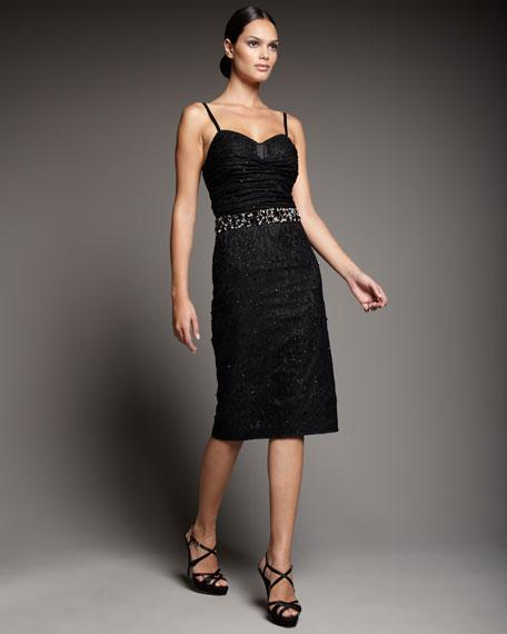Beaded Lace Bra-Top Dress