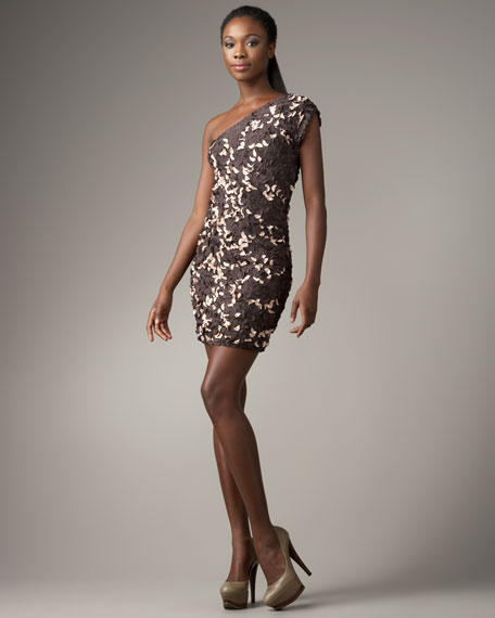 One-Shoulder Paillette Dress