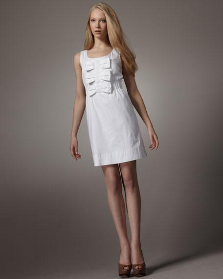 Bow-Detail Denim Dress