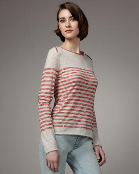 Troy Block-Stripe Sweater