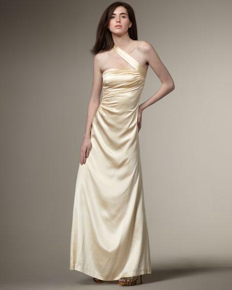 Cross-Shoulder Gown