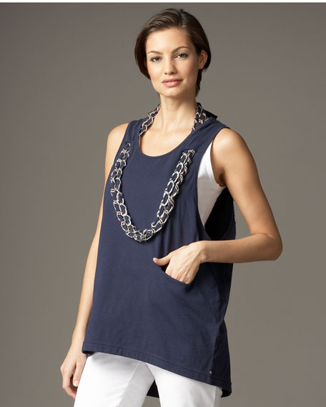 Neon Buddha Grommet Necklace Tank