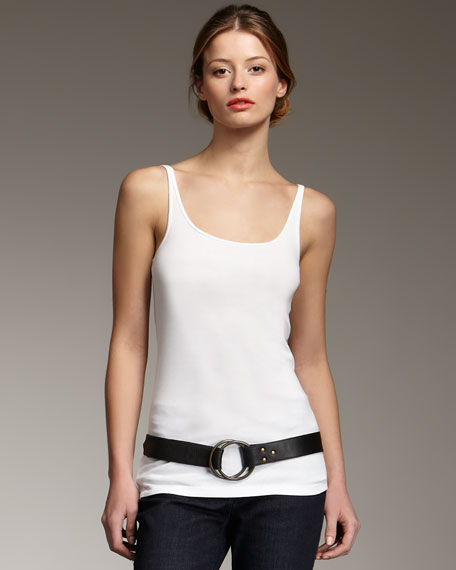 Leather Ring Belt, Women's