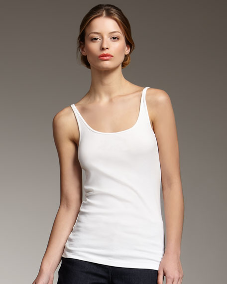 Long Ribbed Camisole, Petite