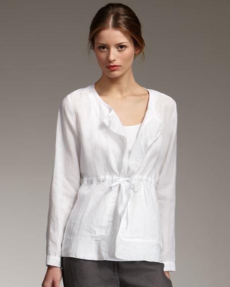 Linen Drawstring Jacket, Petite