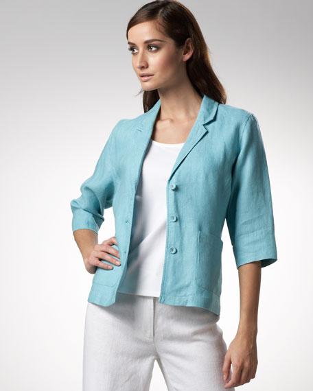 Shaped Heavy-Linen Jacket, Women's