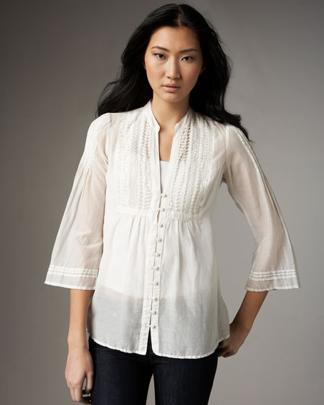 Irresistible Cotton-Silk Blouse