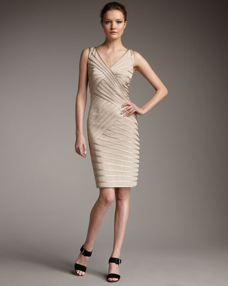 Double V Pipe Dress