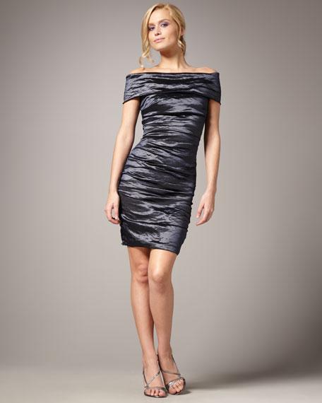 Off-the-Shoulder Techno Dress