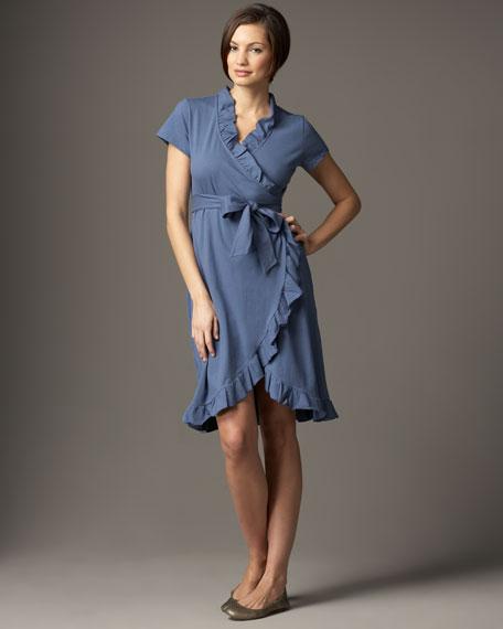 Ruffle-Trim Wrap Dress