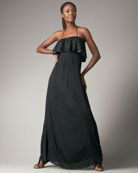 Ruffle-Detail Maxi Dress