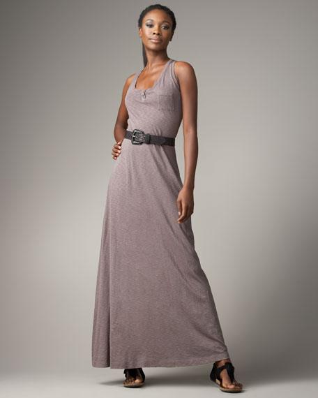 Racerback Maxi Dress, Carbon