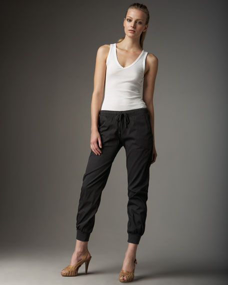 Pull-On Banded Sweat Pants