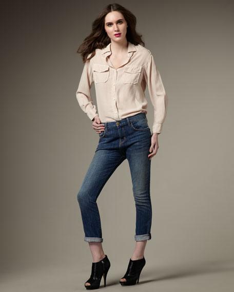 Boy Genius Royal Vintage Cropped Jeans