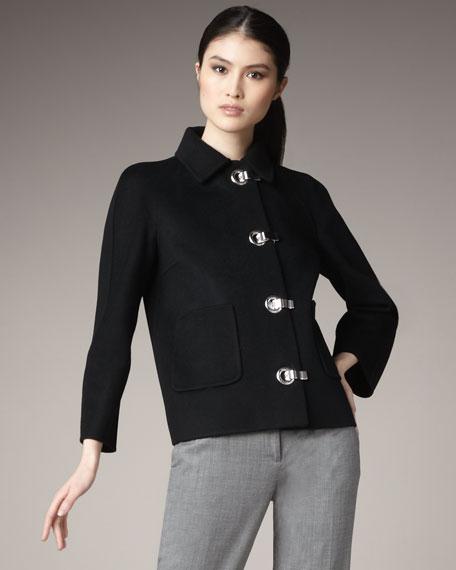 Melton Grommet Jacket
