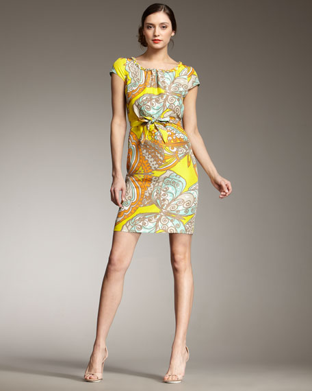 betty butterfly-print dress