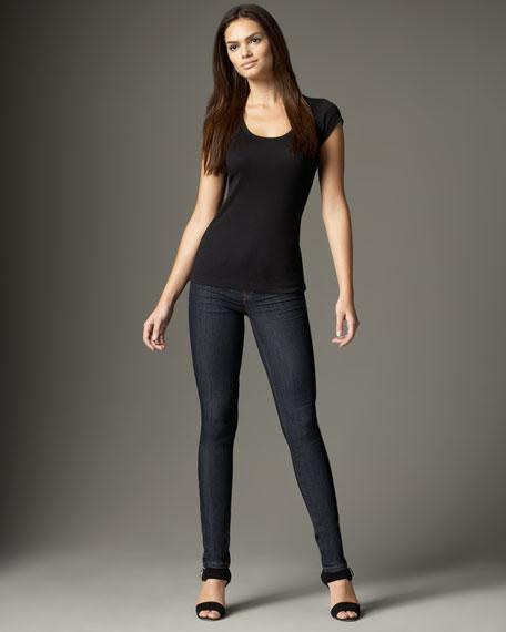Spring Street Indigo Pull-On Skinny Jeans