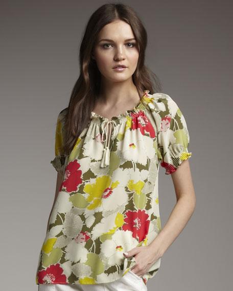 Masha Floral Silk Blouse