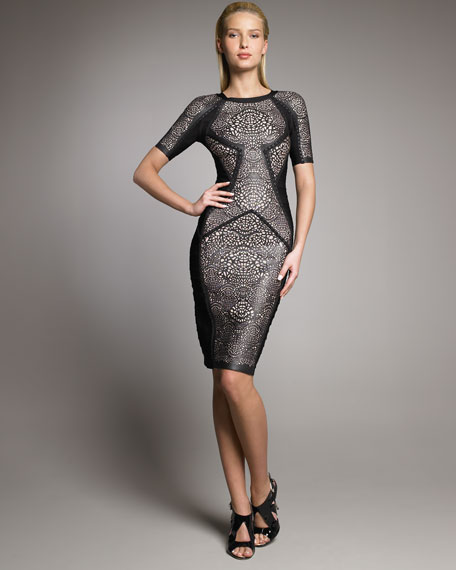 Runway Lace Bandage Dress