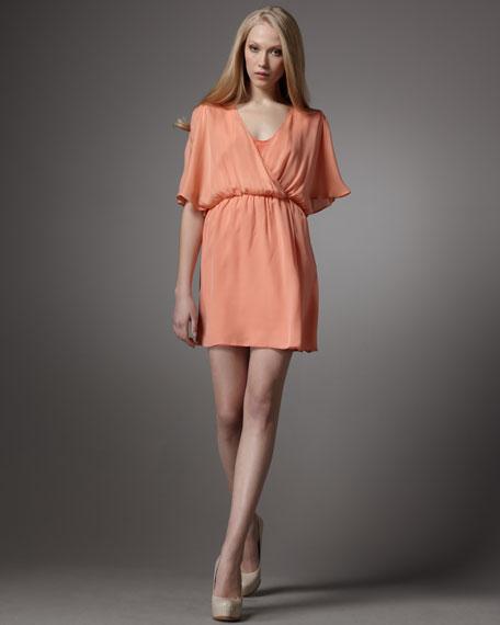 Casey Salmon Wrap Dress