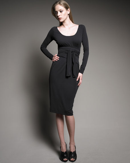 Long-Sleeve Infinity Dress