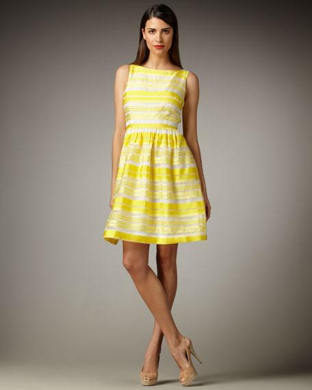 Eryn Stripe Organza Dress