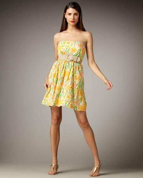 Wyatt Printed Strapless Dress