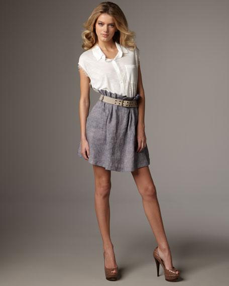 Linen Paperbag Skirt