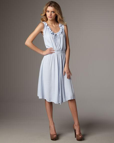 Eva Ruffle-Trim Dress